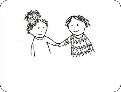 line Drawing holding hands - HOLD ME TIGHT for parents/carers course